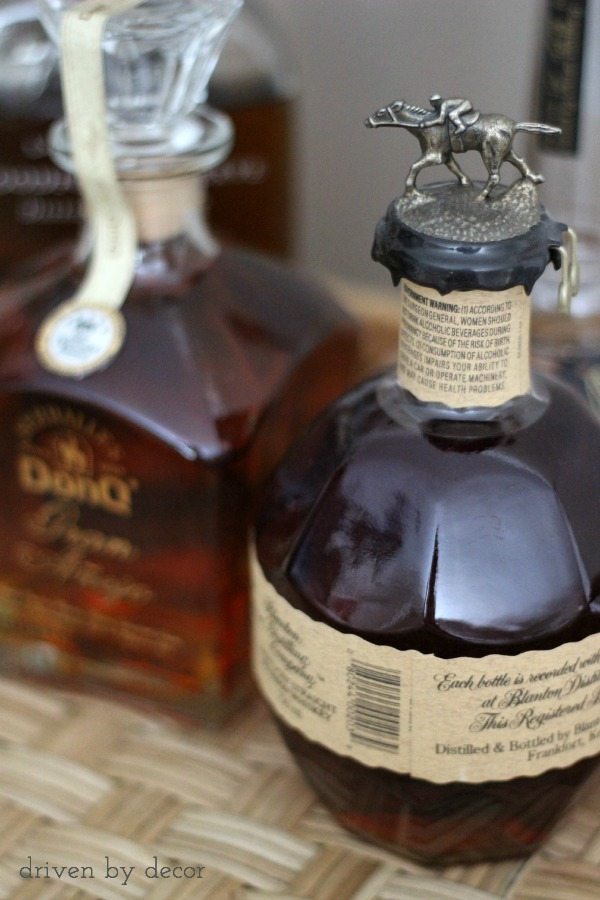 Love these bourbon bottles