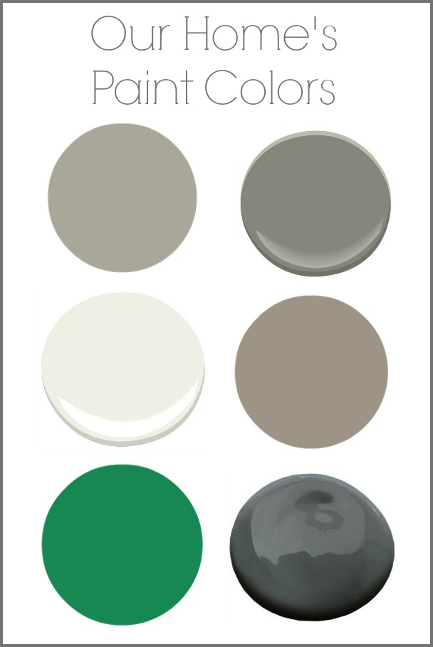 My Home's Paint Colors