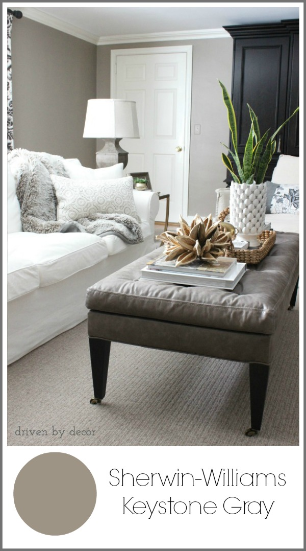 Living Room – also painted Sherwin-Williams Keystone Gray