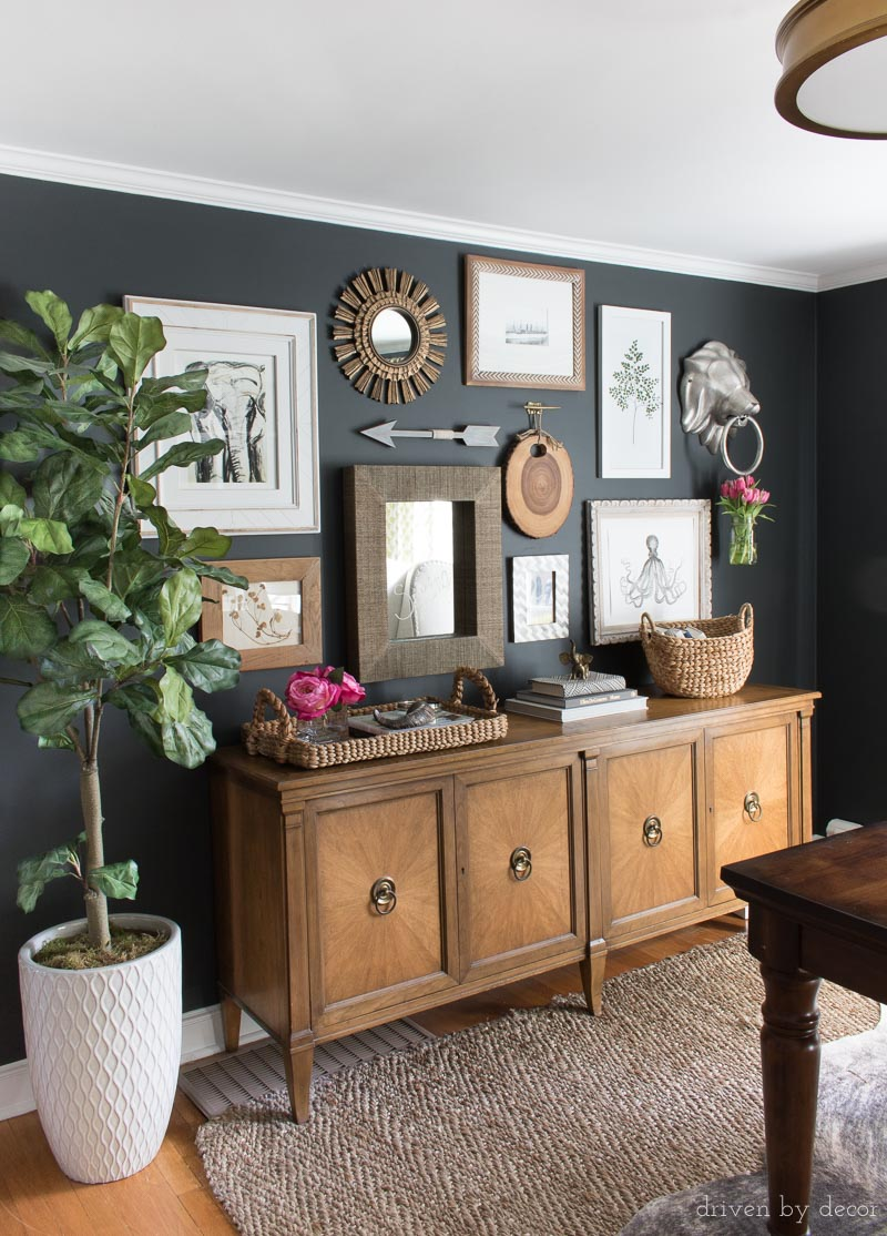 a great choice for a soft black paint color that isnt too harsh - Good Paint Colors For Living Room