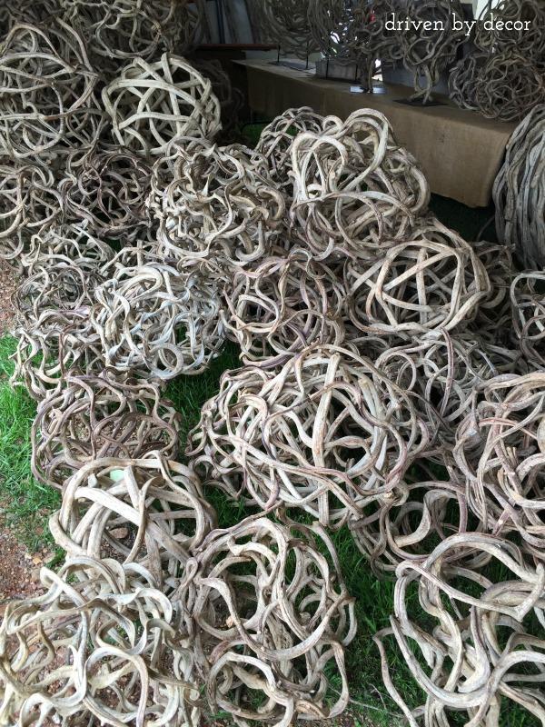 Balls of woven vines