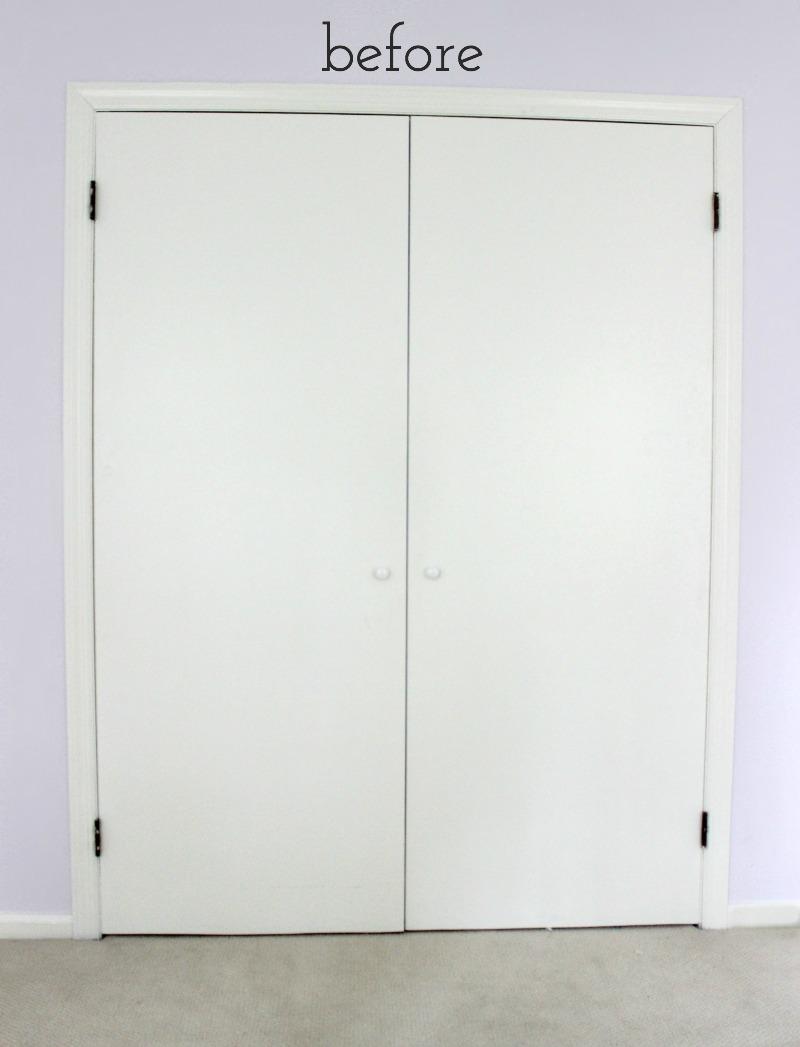 Remodelaholic | Add Molding to Update Closet Doors