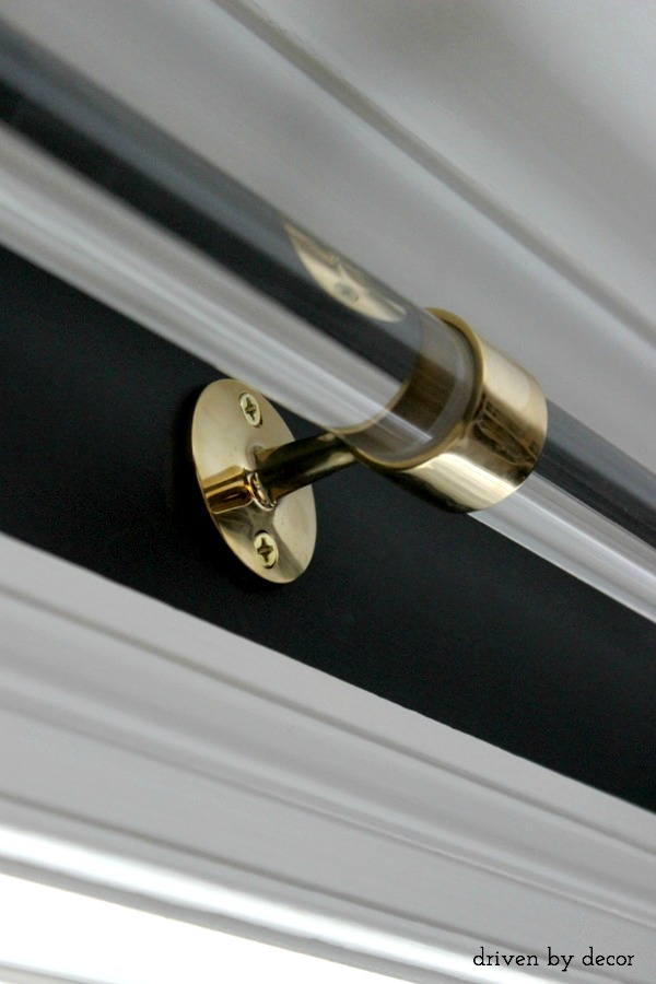 Acrylic Curtain Rods with Brass Hardware | Driven by Decor