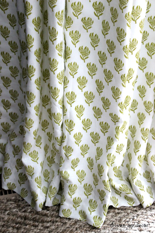 Citrine and white floral fabric