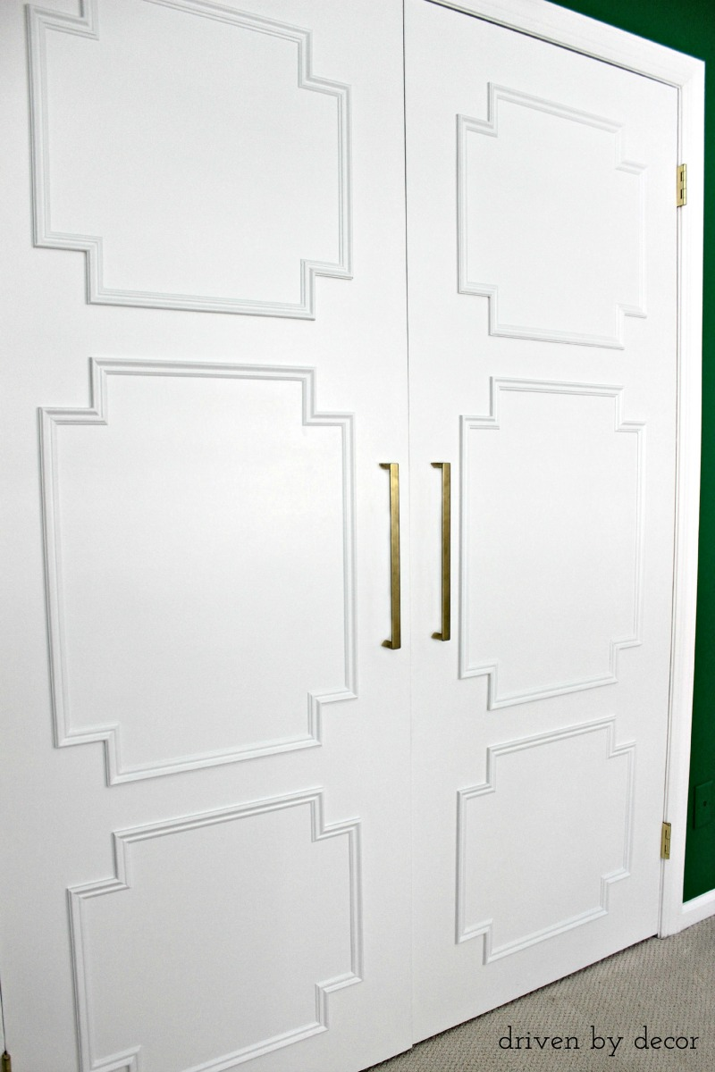 Remodelaholic Add Molding To Update Closet Doors
