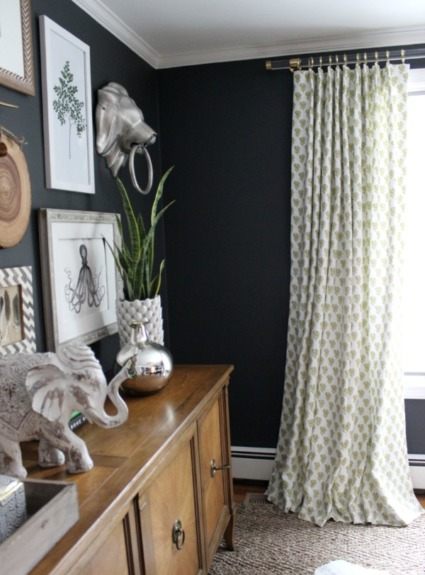 Acrylic Curtain Rods with Brass Hardware
