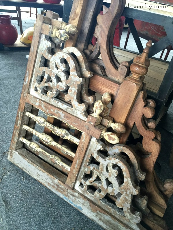 Reclaimed architectural pieces