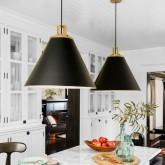 Fabulous black cone pendants