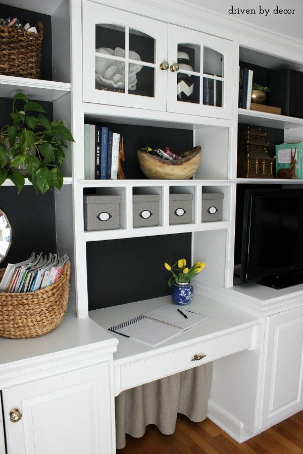 Hiding Our Home Office Cords And Wires With Style   How To Hide Printer In Home  Office .
