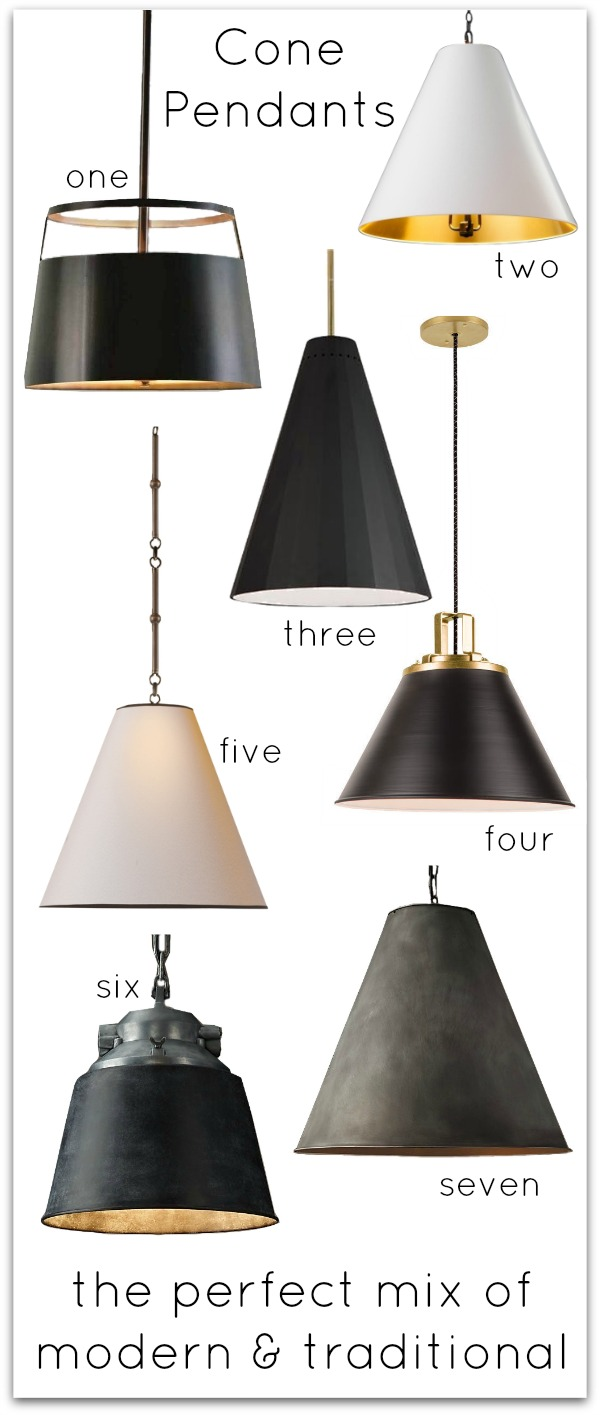 Kitchen Inspiration Cone Pendant Lighting Driven By Decor