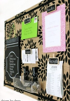 Getting Organized: DIY Burlap Bulletin Board