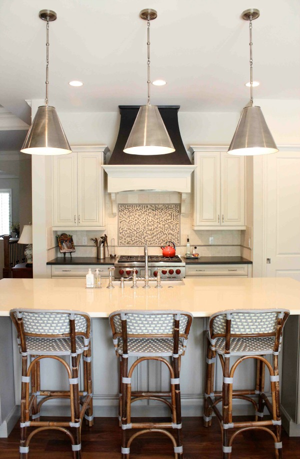 Pendant Light Fixtures Over Island 600 x 919