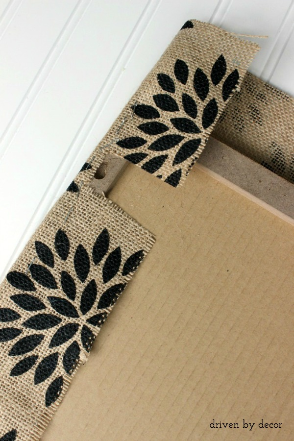 Tutorial for making burlap bulletin board