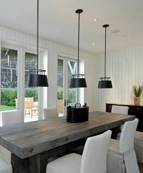 Urban Electric Carlyn pendant over farmhouse table