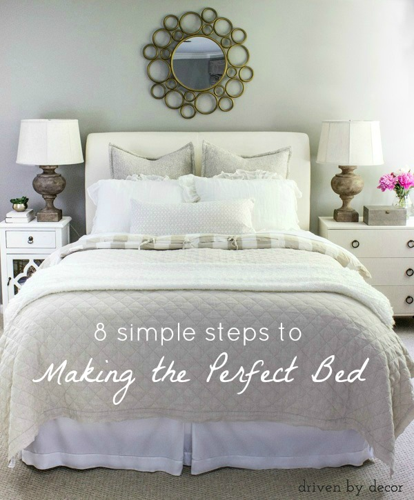 A Step By Guide To Making The Perfect Bed