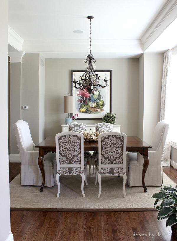 Window treatments for those tricky windows driven by decor for Dining room no windows