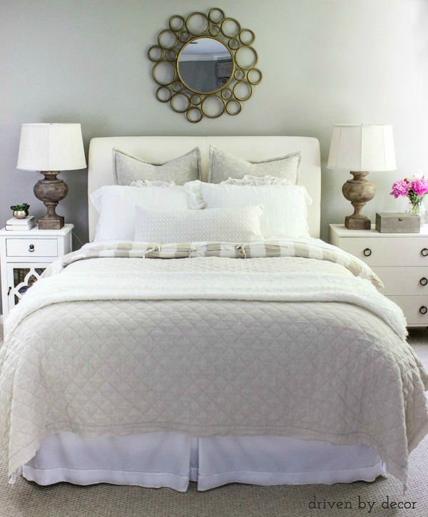 Great tips on how to make a beautiful bed