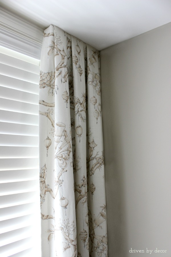 Window treatments for those tricky windows driven by decor for Simple window treatments for large windows