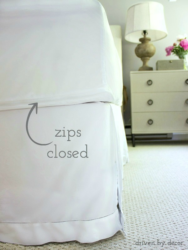 Use a zip-up mattress protector to keep allergens at bay