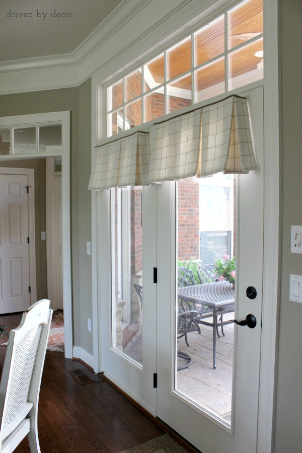 Valences over glass doors
