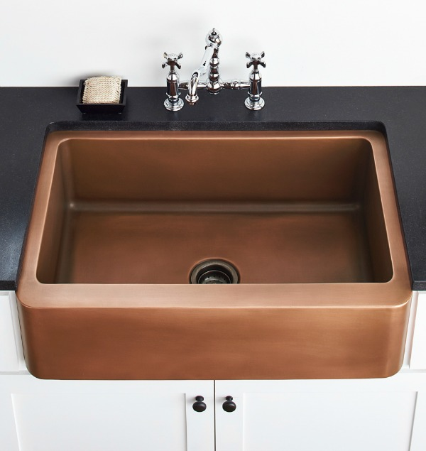 Copper apron sink - gorgeous!