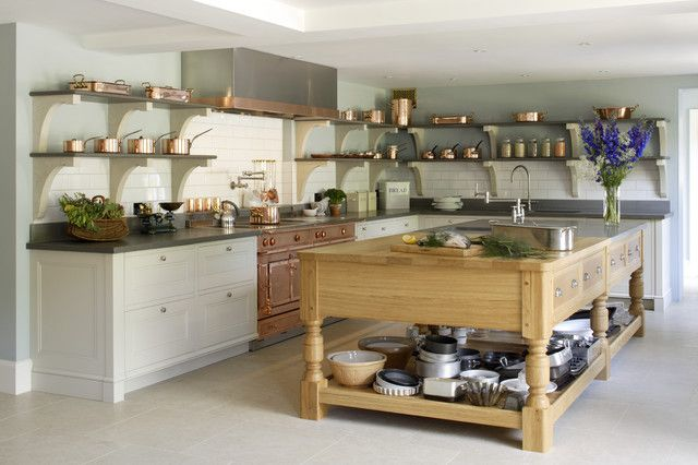 Gorgeous cook's kitchen with copper accents