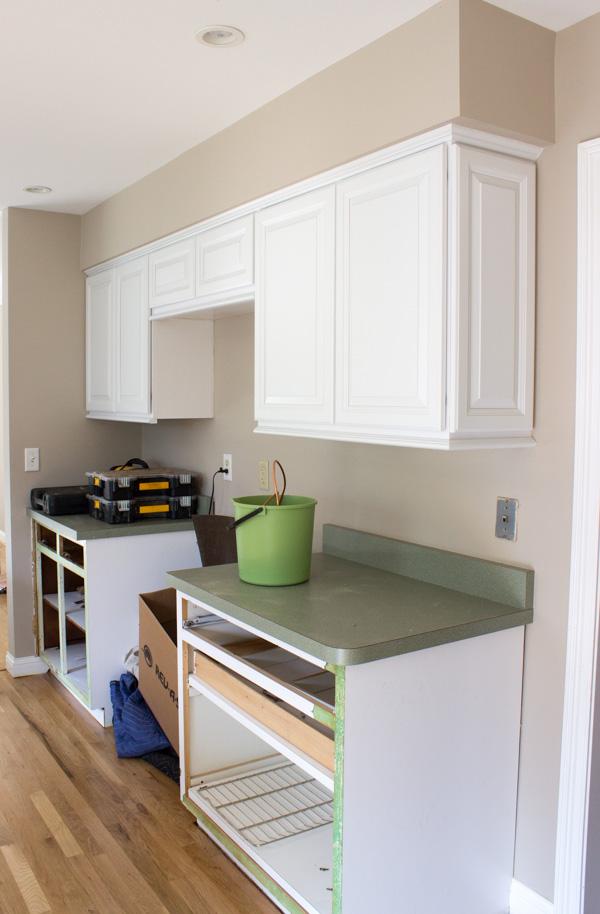 Kitchen Cabinet Refacing in Progress
