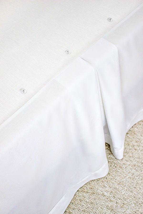 Great tip for getting the right length bed skirt! Part of how to make a perfect bed!