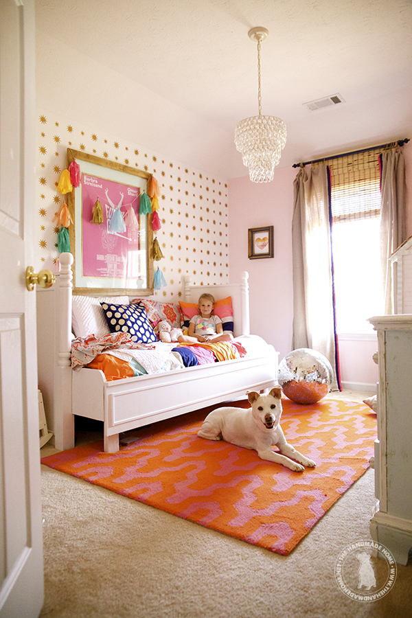 Pink And Orange For A Girls Bedroom