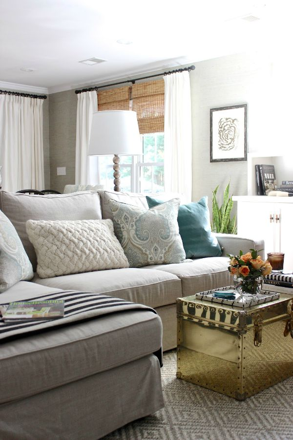 Gorgeous family room by Sherry Hart (Design Indulgence)