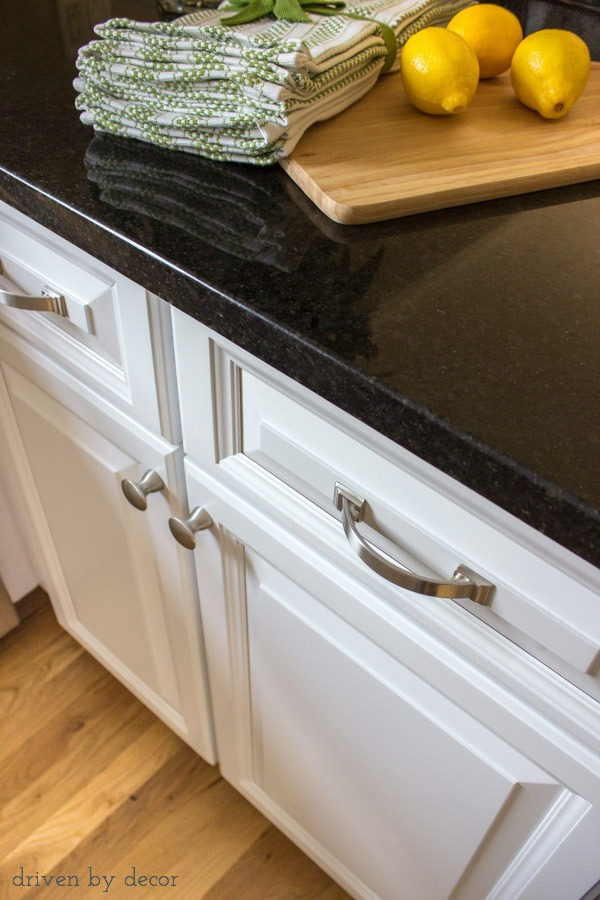 Newly refaced cabinets with Black Pearl granite