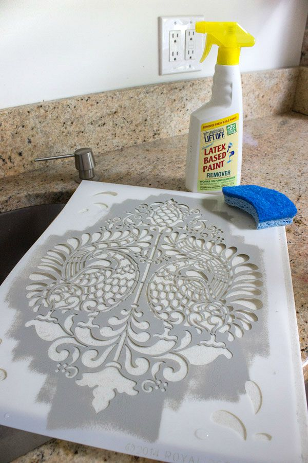 How to clean a stencil