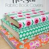 Tutorial for no-sew decorative fabric book covers - love!