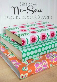 Easy No-Sew Fabric Book Covers