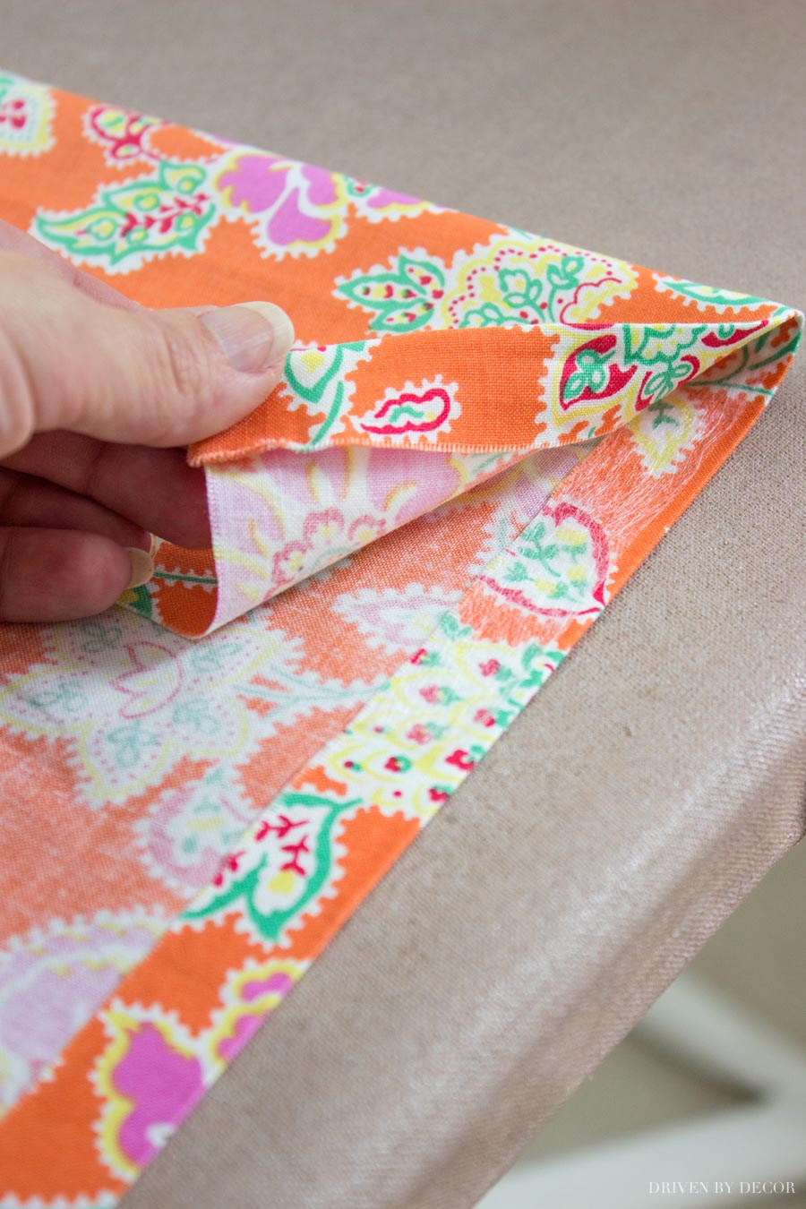 Using Stitch Witchery to create a no sew book cover
