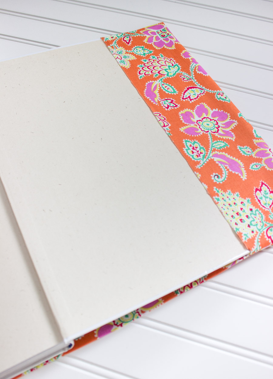 How to make a fabric book cover without sewing!
