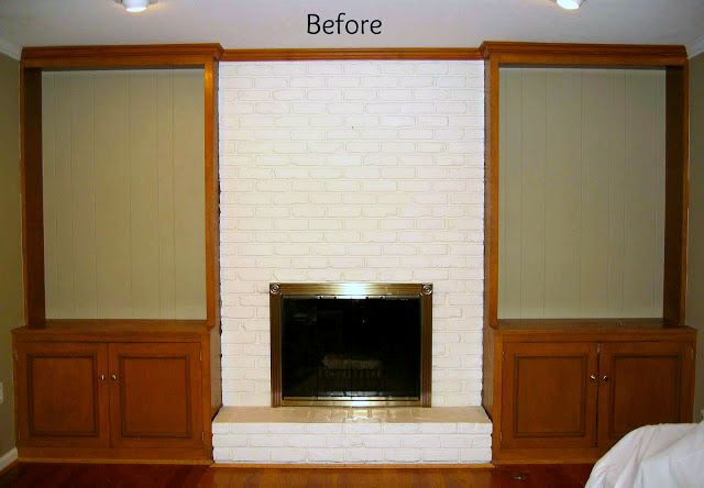 Before of fireplace
