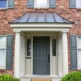 Copper covered portico