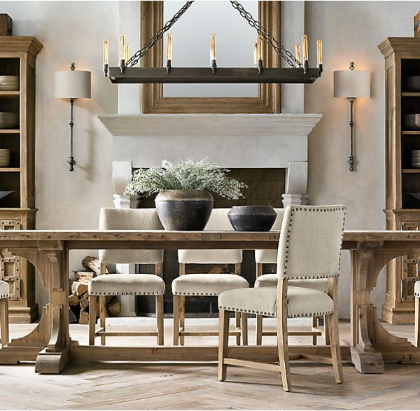Restoration Hardware's 20th C. Reclaimed Pine Trestle Table
