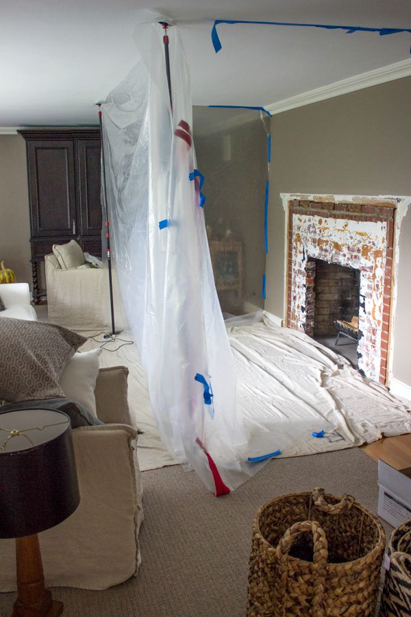 Torn up living room