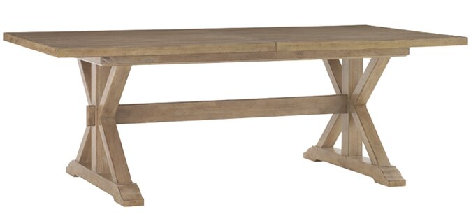 A Restoration Hardware look farmhouse trestle table for less!