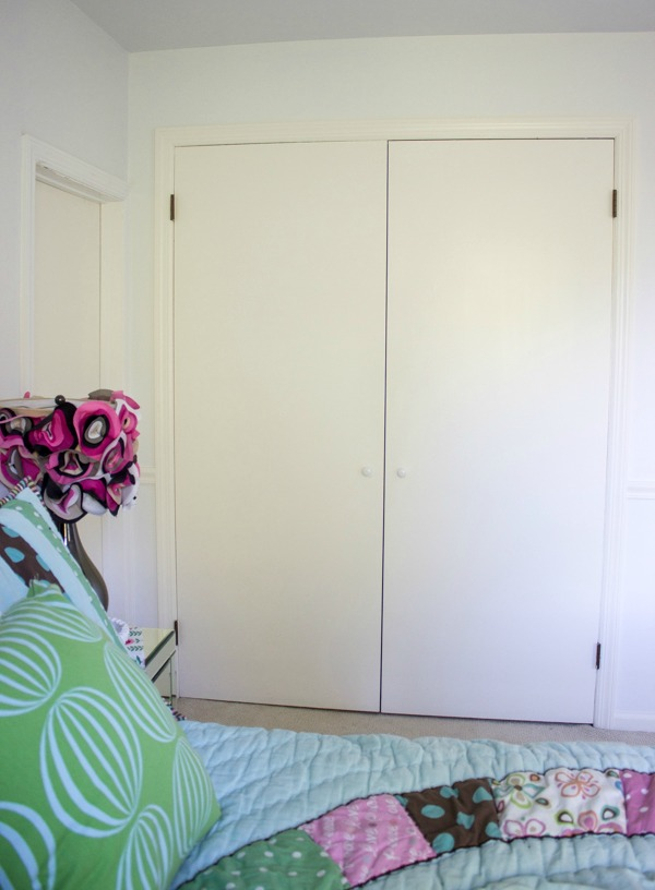 "The ""before"" of the closet doors!"