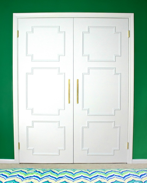 Flat doors turned fabulous with molding