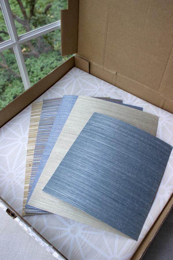 Grasscloth wallpaper samples