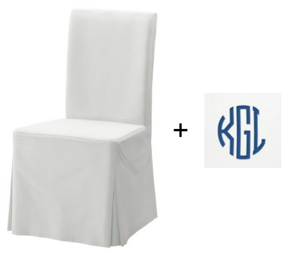 IKEA's HENRIKSDAL chair with monogram