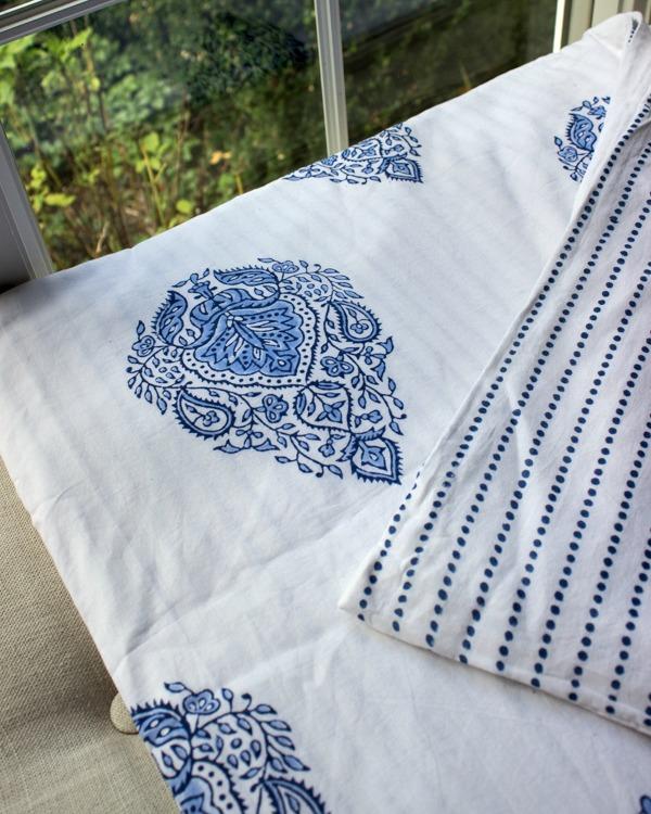 Kalyana Textiles block-printed duvet