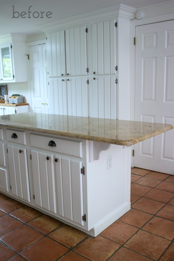 Kitchen Island Baseboard