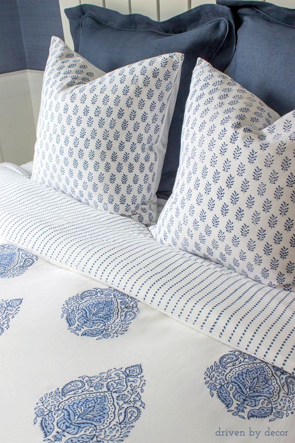 Beautiful handblocked bedding from Kalyana Textiles