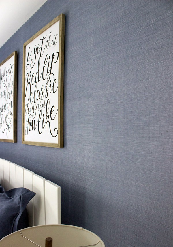 Blue grasscloth wallpaper from Walls Republic