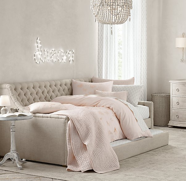 Daybeds at restoration hardware : Bedroom makeover deets neutral loving inspiration my